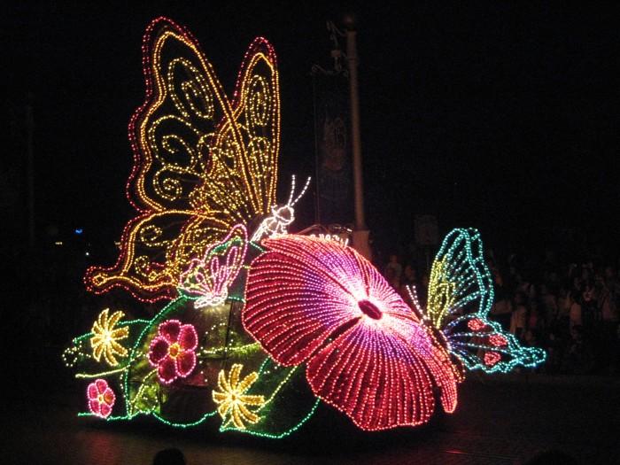 Disneyland Lichter Nachtparade