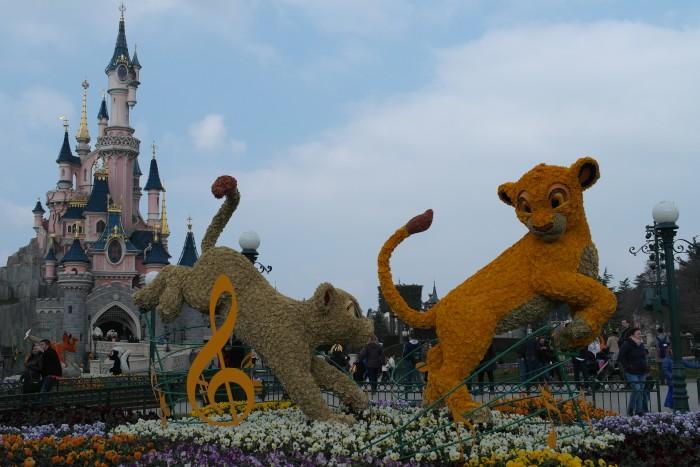 Simba Nala Dornröschenschloss Disneyland