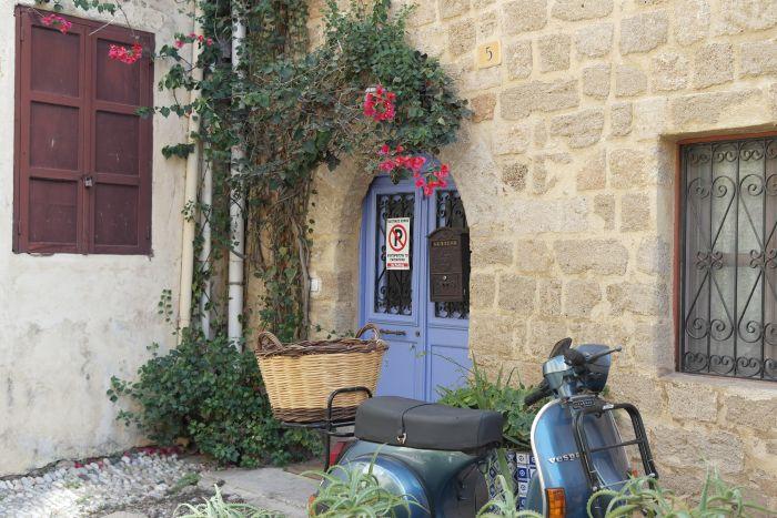 Hauseingang in der Altstadt von Rhodos