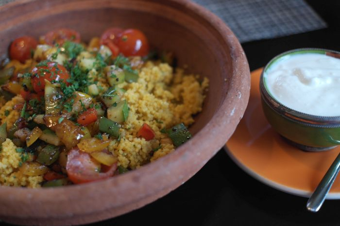 Tajine mit vegetarischem Couscous