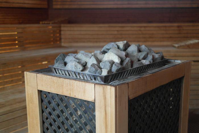 Saunaofen in der größten Sauna im Ishara